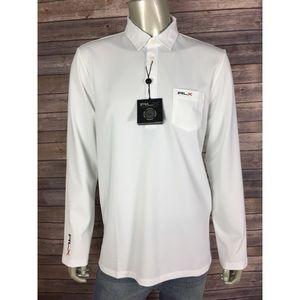 RLX Ralph Lauren L/S Polo Shirt Golf Spellout